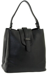 Сумка шоппер кожаная черная LMR 6911-1j